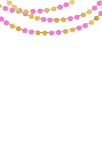 Green and Gold _bunting round pink