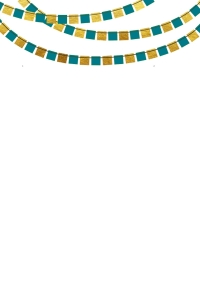 Green and Gold _bunting teal