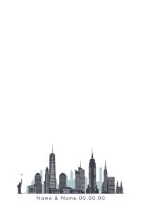 Manhattan Skyline 2 w heart