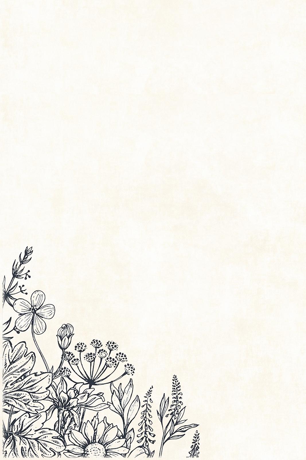B/W Florals